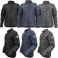 Mens Padded Jacket Coat Puffer Bubble Quilted Fleece Lined Warm Work Wear Winter