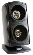 Display Organizer Box Case Black Double Watch Winder Automatic Rotation Storage
