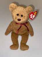 "TY ""Curly"" the Bear Beanie Baby - 1996 w/ Tags"