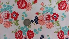 SMITTEN BY BONNIE AND CAMILLE FOR MODA FABRICS. FAT QUARTER. FLORAL ON WHITE