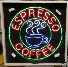 "New Espresso Coffee 24"" x 24"" Cafe Open Neon Light Sign Bar Artwork Gift"