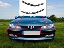 Neuf Peugeot 406 99-04 Pare Choc avant Garniture Moulée PLASTIQUE avec Chromé