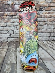 World Industries Vintage Skateboard Deck Flameboy Army Tank Rare