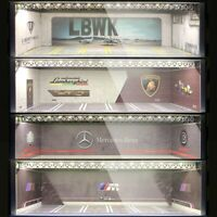 Geechan x MC Hobby 1:64 Diorama Led Light Carport Garage LBWK Benz BMW Lambo