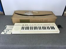 Vintage Casio Casiotone White Electric Electronic Keyboard Piano CT-102 in Box