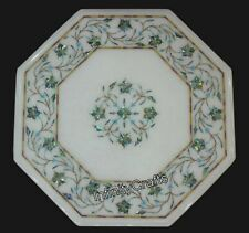 12 Inches Marble Corner Table Top with Pietra Dura Art Royal Design Coffee Table