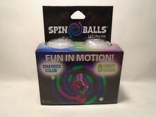 SPIN BALLS LED POI KIT FUN IN MOTION NEW IN ORIGINAL BOX 8 LIGHT MODES NEW IN BX