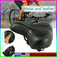 Wide Bike Bicycle Sport Soft Pad Saddle Seat Comfort Big Bum Cruiser Cushion US