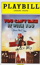 You Can't Take It With You signed Playbill james earl jones mark lynn baker