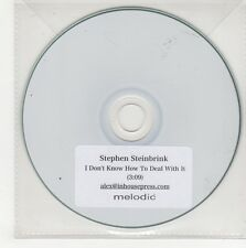 (GN548) Stephen Steinbrink, I Don't Know How To Deal With It - DJ CD