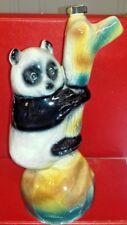 Statuette représentant Panda bouteille Garnier en porcelaine haut 32 cm