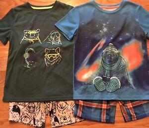 Boys Pajamas Size Medium 8/10 Cat & Jack Lot Of 4 Excellent Condition