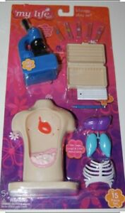 """My Life As Biology Play Set 15 Piece OG Biology Lab Accessories for 18"""" Doll"""