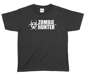 Zombie Hunter Halloween Boys Girls Unisex Funny T-Shirt