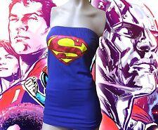LADIES dc comics SUPERGIRL lace up back VIOLET CORSET costume sz - medium