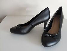 Black Bow Stiletto Shoes Size 6 Wide Fit (EEE Fit) Shoes New From Evans
