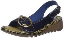 Fly London Tram723fly Ladies Womens Sling Back Wedge Heel Summer Sandals Blue EUR 39