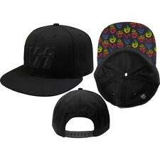 More details for official licensed - kiss - neon faces snapback baseball cap rock simmons