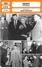 FICHE CINEMA : RACKET - Mitchum,Scott,Ryan,Cromwell 1951