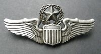 USAF AIR FORCE LARGE MASTER PILOT WINGS CAP BADGE 3 INCHES