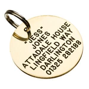 Pet Tags Brass ID Dog Tags 32mm
