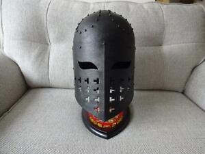 Viking or Medieval Antiqued Spangenhelm. A Helmet For Re-enactment Stage or LARP