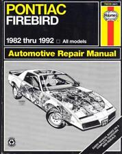 PONTIAC FIREBIRD,TRANS AM,S/E,151,173,191,V6,305,350 V8,HAYNES MANUAL 1982-1992
