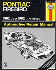 Pontiac Firebird, Trans Am, S/e, 151,173,191,V6,305,350 V8, Manual de taller 1982-92