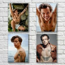 Harry Styles Poster A4 NEW Set HQ Print Sexy Hot Guy Hunk Body Home Wall Decor