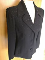 Ladies NEXT Jacket Size 10 Black Beaded Smart Party Evening