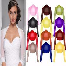 Women Long Sleeve Ladies Sheer Chiffon Bolero Mesh Cardigan Top Shrug