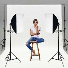 Set of 2 Lighting Softbox Led Bulb Stand Photography Photo Equipment Light Kit