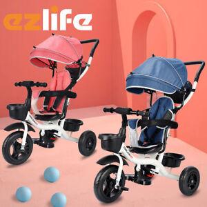Kids Toy Stroller Reverse Toddler Bike Tricycle Trike Ride-On Baby Prams ACB#