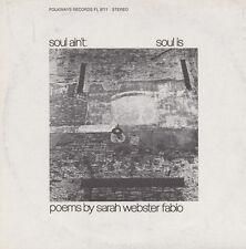 Sarah Webster Fabio - Soul Ain't Soul Is: Poems By Sarah Webster Fabio [New CD]