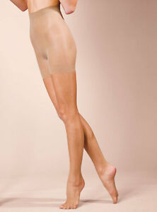 Silky Naturals body shaping tights 10 denier black and nude medium and large