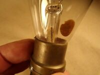 Rare Antique Light Bulb HYLO Original Label Tipped Bulb Shelby