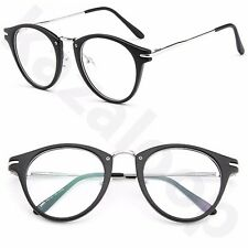Moda para Mujer Ovalado Gafas Lentes Transparentes