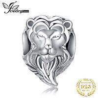 Charm Anhänger Löwe Figur Lion Katze Kopf Tier Motiv 925 Silber für Armband