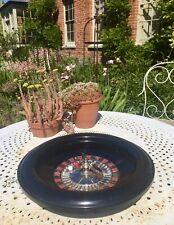 Chad Valley Vintage Black Bakelite Roulette Wheel  Extra  Large 40cm