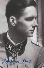 Rudolf von Ribbentrop signed auto WW II German Knight Cross D-Day COA RARE LOOK!