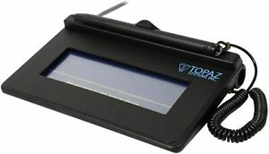 Topaz SigLite 1x5 Signature Pad, Virtual Serial USB Connection - T-S460-BSB-R