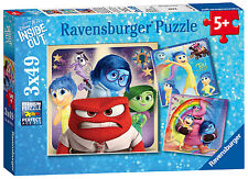 DISNEY INSIDE OUT EMOTIONAL ADVENTURES 3 x 49 PIECE RAVENSBURGER JIGSAW PUZZLE