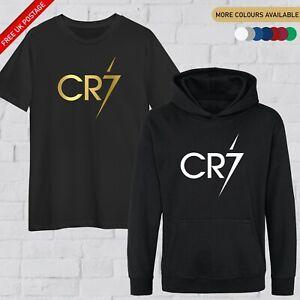 CR7 Hoodie / T Shirt Kids Football Jersey Jumper Ronaldo #7 GOAT Merch Gift Tee
