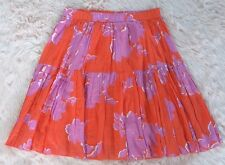 Old Navy Tier Twirl Skirt 100% Cotton BOHO Orange Purple Tropical Hawaiian S