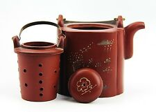 CHINESE YIXING ZISHA CLAY ARTISTIC POLISHED RED TEAPOT AND COVER NEW # 16