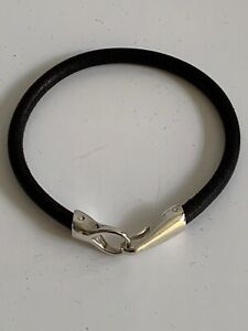Helena Rohner x Paul Smith Hook & Eye Silver And Leather Bracelet New