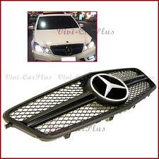 For 10-13 BENZ W212 E-Sedan E350 E500 E63 4D Matte Black Fin Frame Front Grille