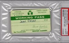 1965-1966 Boston Celtics PSA Ticket Pass Win 9th Title GM 7/Red Auerbach Last GM