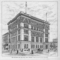 NEW YORK ATHLETIC CLUB HOUSE GYMNASIUM BUILDING 1884 ARCHITECTURE ATHLETIC CLUB