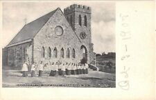 1905 Procession into Chruch of the Holy Name Crasmoor NY post card Ulster county